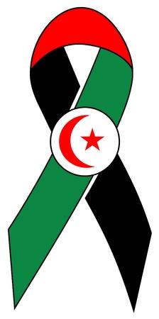 oppression: Ribbon of solidarity to sahara free