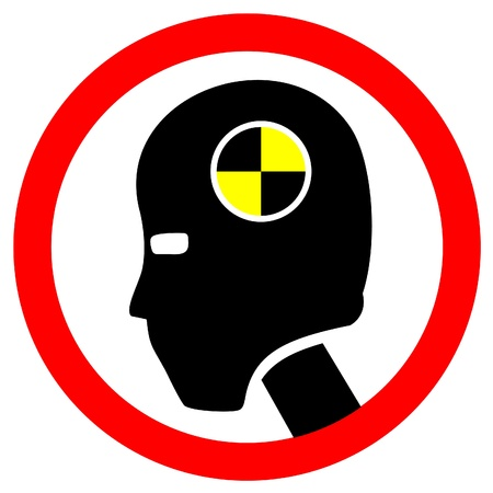 Sign of crash test dummy Vector