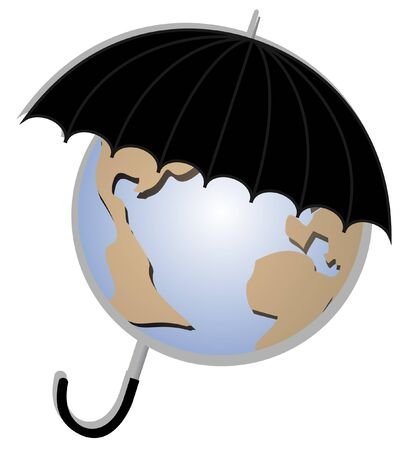 climatology: umbrella protecting the planet earth