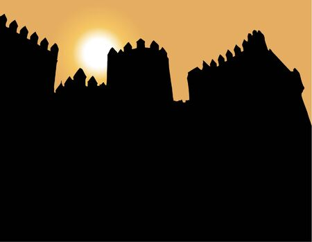 the middle ages: sunset in the middle ages