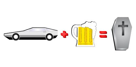 reckless: alcohol and car are incompatible