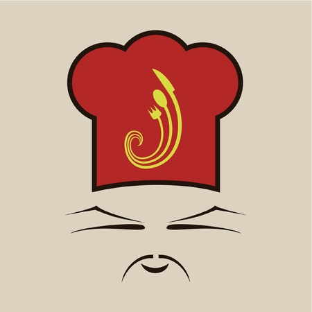chinese cook face Vector