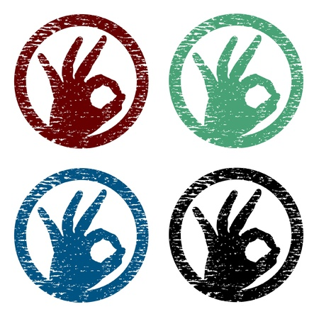 hand making the sign of approval Stock Vector - 9598280