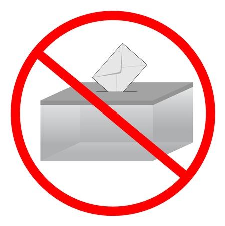 voting ballot: Signo que indica la prohibici�n de la votaci�n