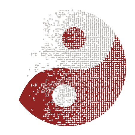 taoist: special design of yin and yang Illustration