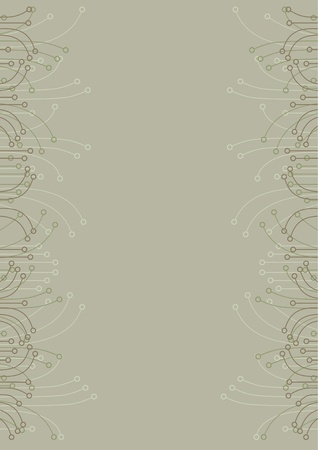folio: Page background with classical design  Illustration
