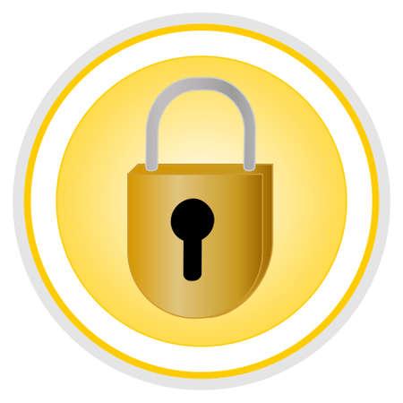 protegido: Icono de seguridad  Vectores