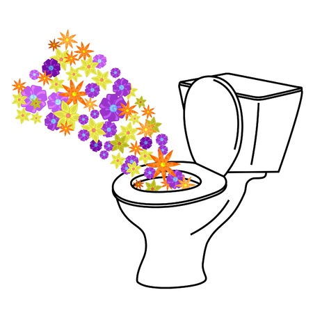 freshener: Representation of a urinal clean  Illustration