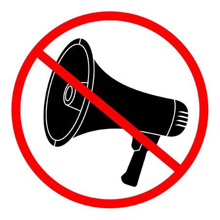 manifest: Signal prohibited from using megaphone Illustration