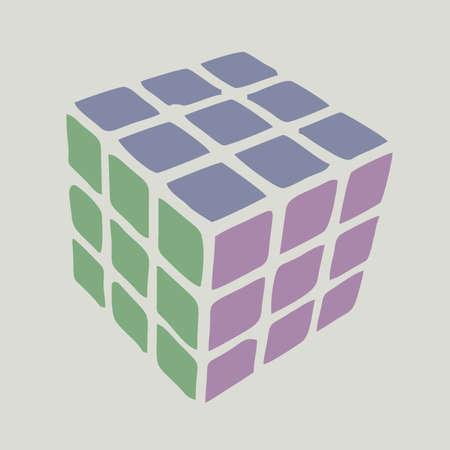 quadrant: Drawing color cube Illustration