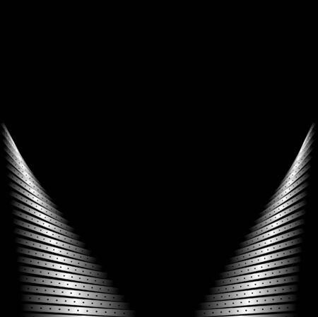 Black background with futuristic design Stock Vector - 9672459