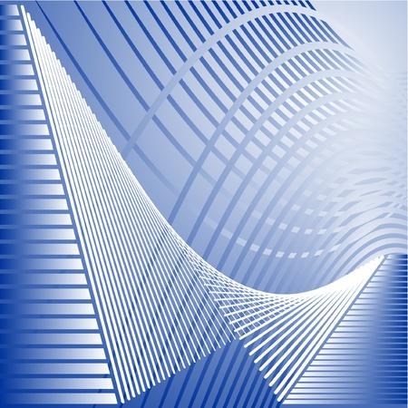 lineas onduladas: Fondo futurista y elegante  Vectores