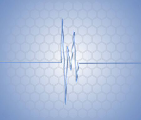 Display showing pulse Stock Vector - 9672440