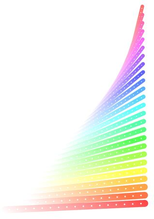 Visual effect created with different colors Stock Vector - 9672460