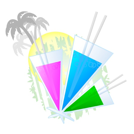 Decorative elements inspired by the summer holidays Stock Vector - 9672453