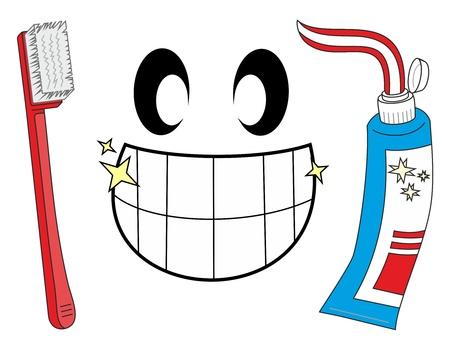 fluoride: Sonr�e con los dientes limpiados