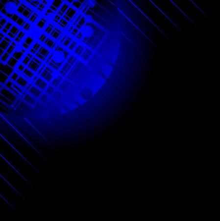 modernity: Dark background with blue modern design  Illustration