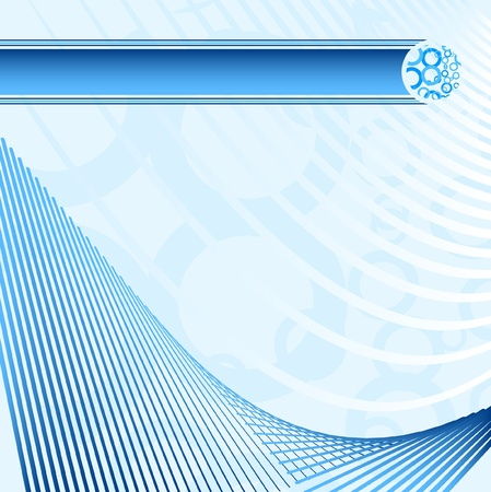 Blue background with creative design Vector