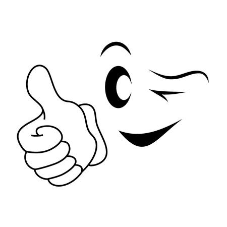 smiley pouce: Smiley face avec le pouce vers le haut Banque d'images