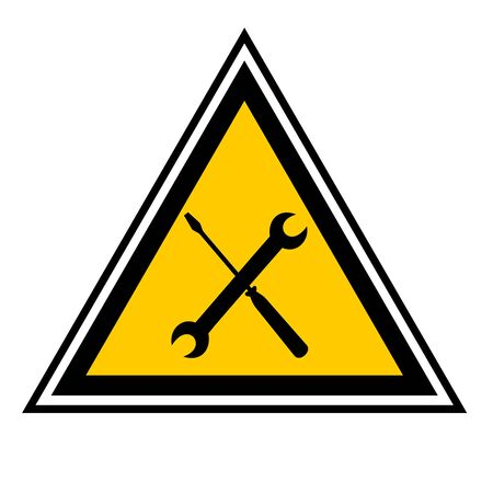 laborious: Triangular signal indicating precautions because of manual work
