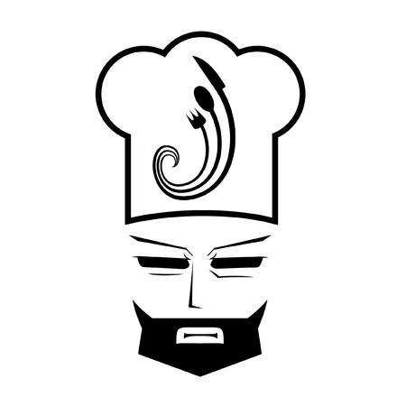 Características de diseño de un chef  Ilustración de vector