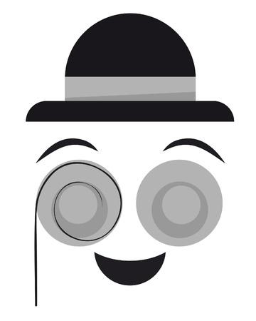 disfrazados: Ilustraci�n de cara simp�tica disfrazado Vectores