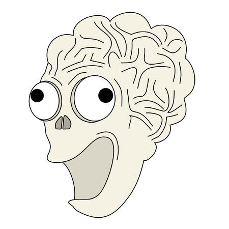 Illustration drôle de zombie heureux