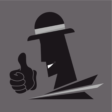 Face and hand gangster Vector