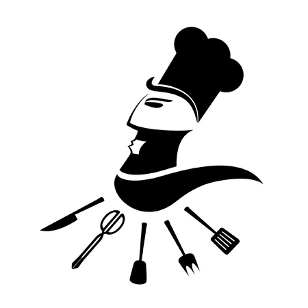 Illustration depicting an excellent cook Vector