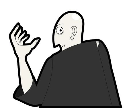 disfrazados: Ilustraci�n del misterioso personaje