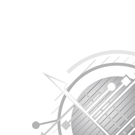Metallic abstract design background Stock Vector - 9987279