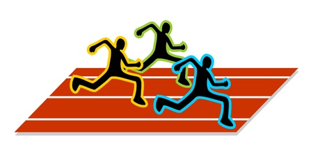 Abstract drawing athletics running