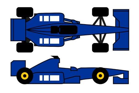 Blue racing car Stock Vector - 10148113