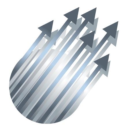 pointing up: Segno circolare con molte frecce verso l'alto