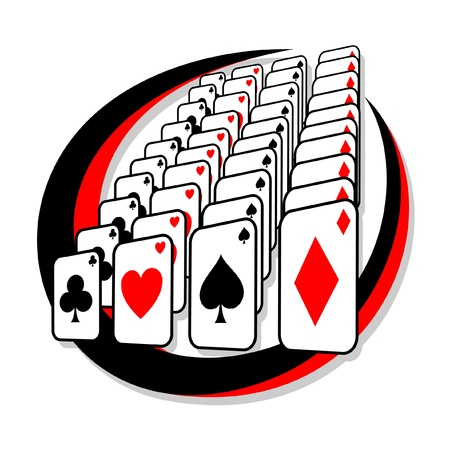 Creative design with poker cards Illustration