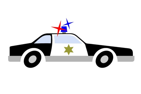 Drawing police car Vector