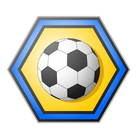thumping: Soccer ball emblem Illustration