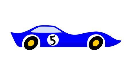 Blue speed car Illusztráció