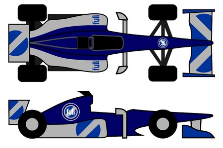 Illustration of racing car Vector