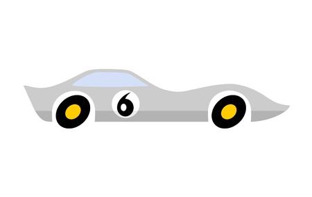 Gray speed car