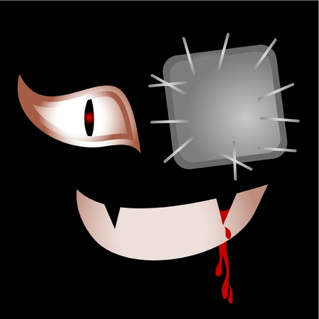 evil face: Evil face Illustration