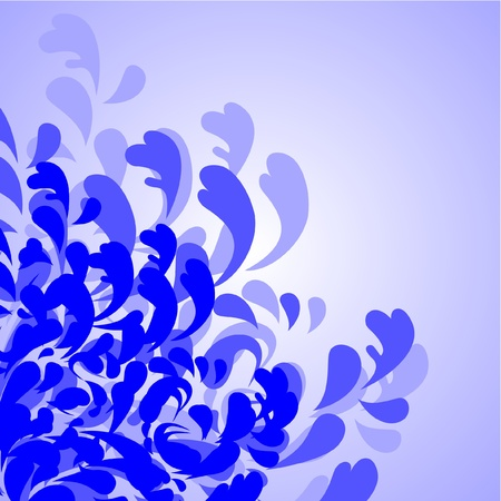 disperse: Water abstract design Illustration