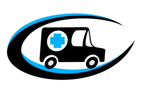 logo medicina: Emblema oval de ambulancia Vectores