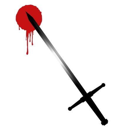 blood stain: Blood sword Illustration