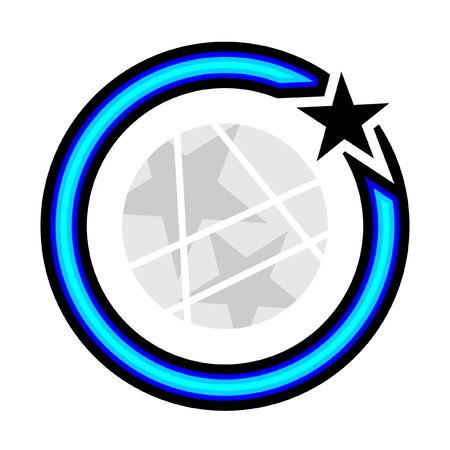 gray: Creative circle icon