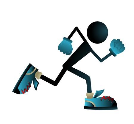 athlete running: Running doll