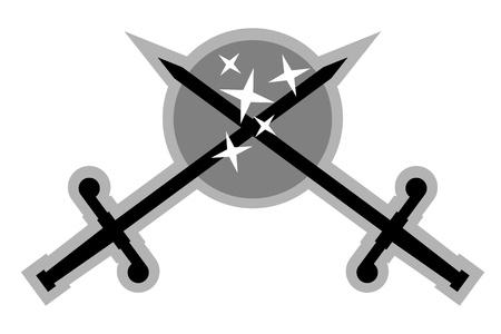 crossed swords: Emblema de dos espadas cruzadas