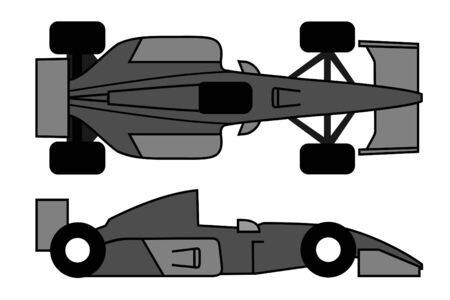 Gray car racing Illustration