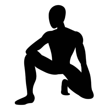physically: Illustration of male athlete