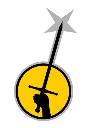 Sword symbol Vector